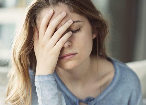 Woman experiencing mood swings