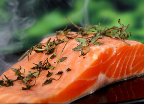 Uncooked salmon