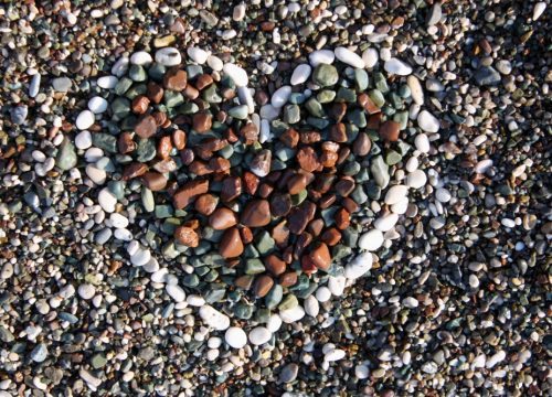 Stones making a heart